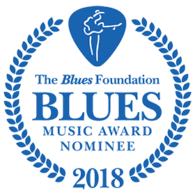 Nominated by the Blues Music Awards in Memphis for 2018 Blues Guitarist of the Years